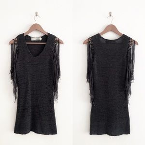 Miilla | Fringe Knit Mini Dress